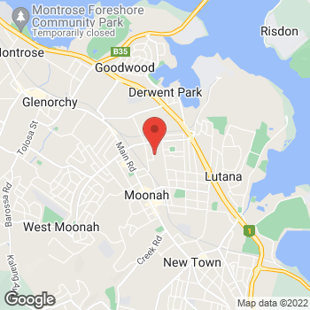 Map of O'Brien Electrical Moonah at 22 Chesterman St, Moonah, TAS 7009