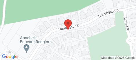 Location map for 59 Huntingdon Drive Rangiora