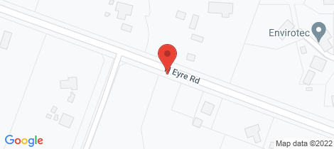 Location map for 1487 North Eyre Road West Eyreton