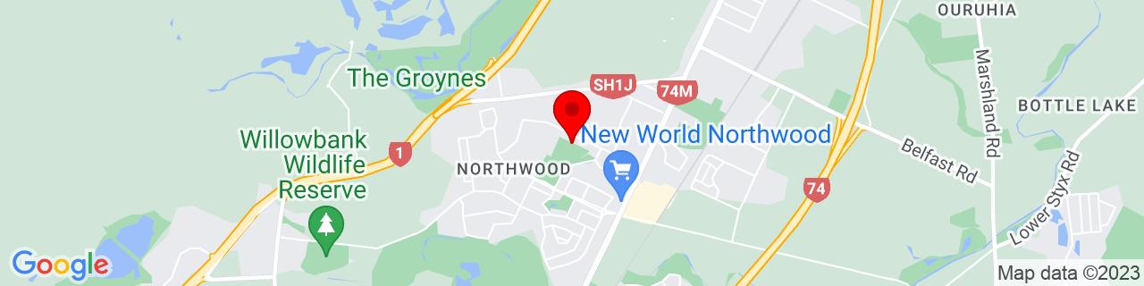 Google Map of -43.45572222222223, 172.61774444444444
