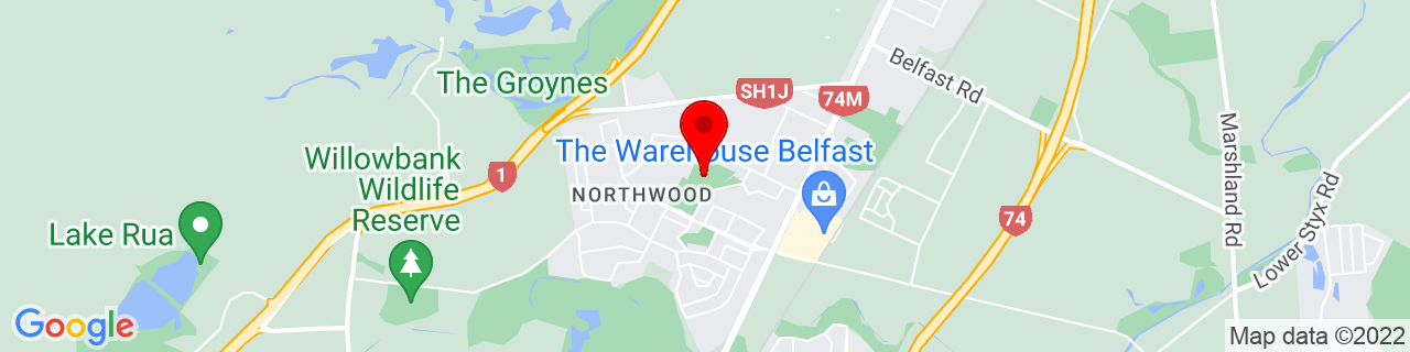 Google Map of -43.456469444444444, 172.61696111111112