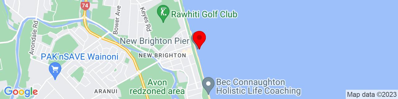 Google Map of -43.506727777777776, 172.7328