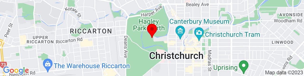 Google Map of -43.52978888888889, 172.6218