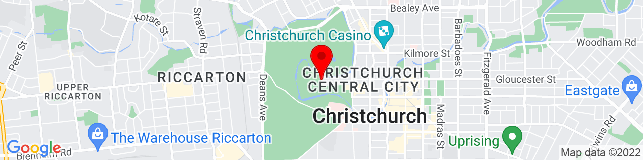 Google Map of -43.52988333333333, 172.6223138888889