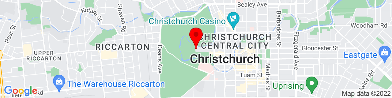 Google Map of -43.530005555555555, 172.62248611111113