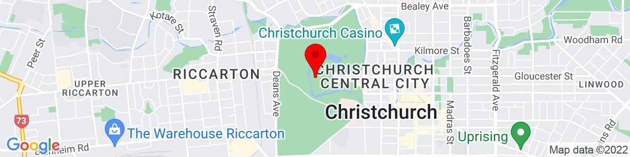 Google Map of -43.53008333333333, 172.6191611111111