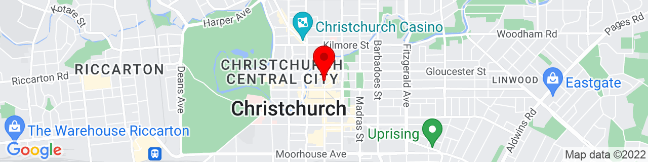 Google Map of -43.53100277777778, 172.63660555555555