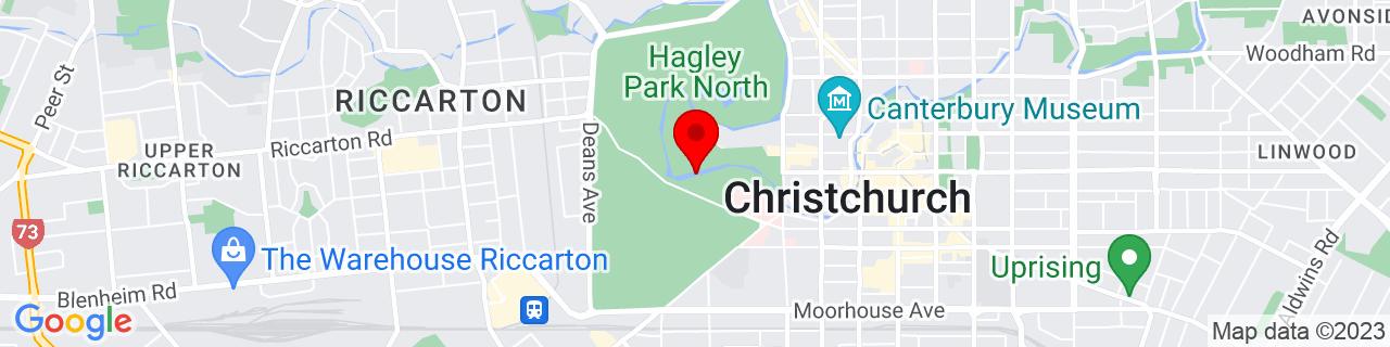 Google Map of -43.53216944444444, 172.62070555555556