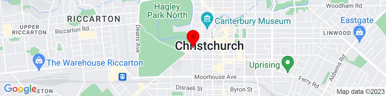 Google Map of -43.53401944444444, 172.62799166666667