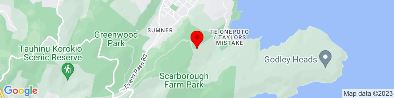 Google Map of -43.58586944444445, 172.76668333333333