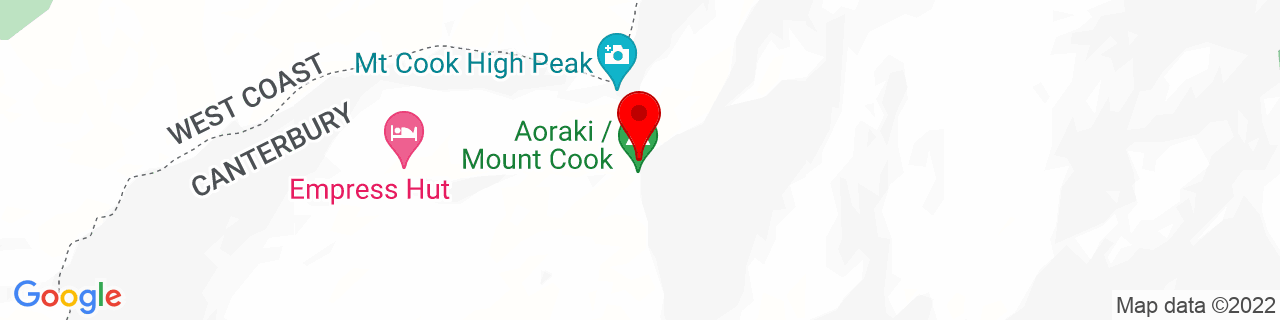 Google Map of -43.59437777777778, 170.14191666666665
