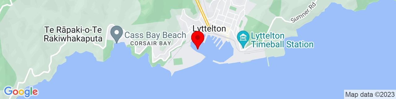 Google Map of -43.60698055555556, 172.71378888888887