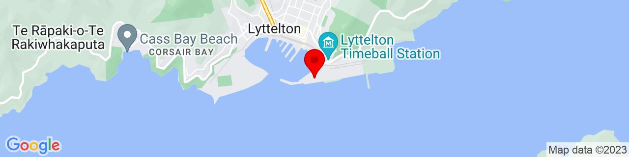 Google Map of -43.60910833333333, 172.72396111111112