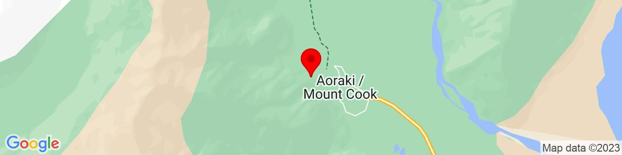 Google Map of -43.733025000000005, 170.0909861111111
