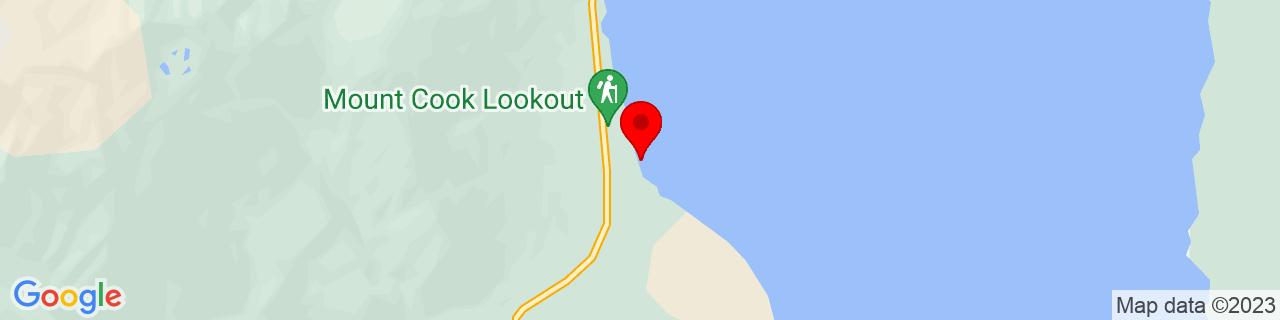 Google Map of -43.851425, 170.11358055555556
