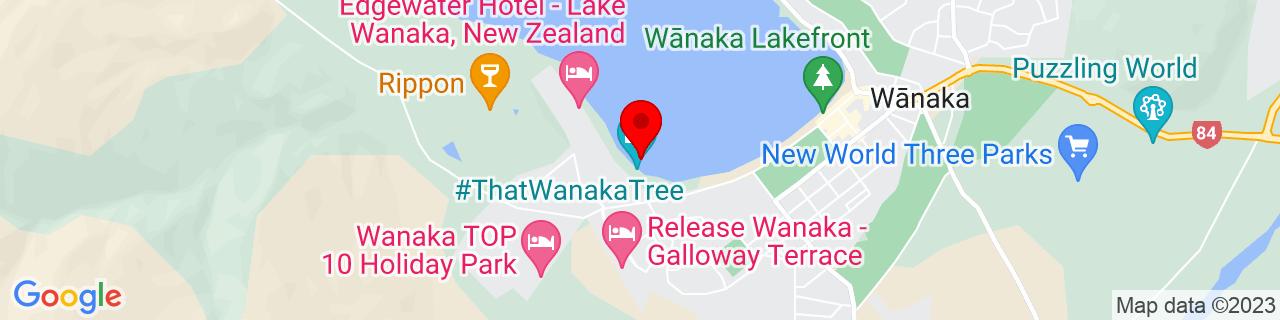 Google Map of -44.69806666666666, 169.11774166666666