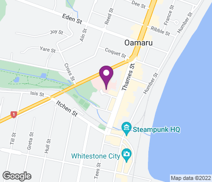 Map of Outpatient Department, Oamaru Hospital, 8 Steward Street in Oamaru