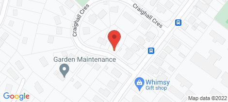 Location map for 8 Craighall Crescent Wakari