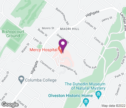 Map of Suite 17, Marinoto Clinic, 72 Newington Avenue in Dunedin