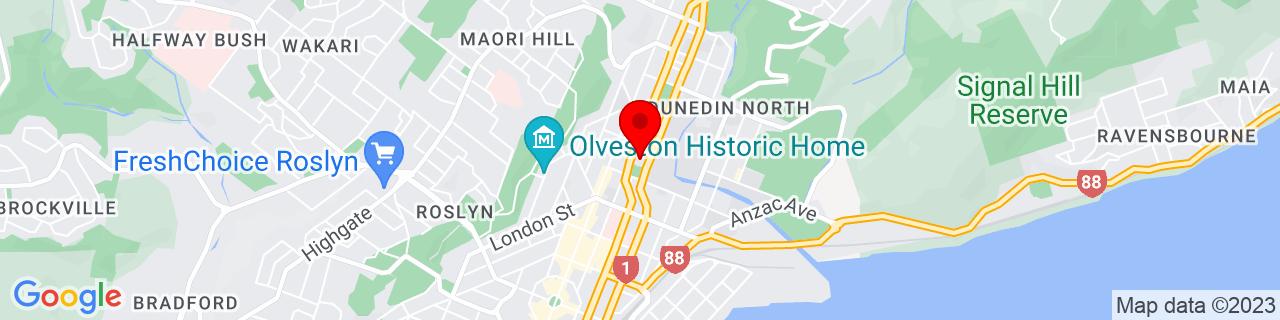 Google Map of -45.86562777777778, 170.51088055555556