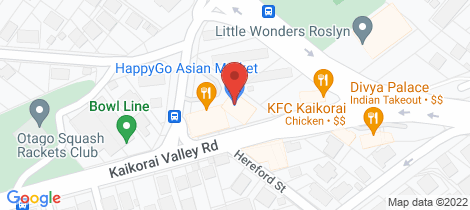 Location map for 2 Mellor Street Kaikorai