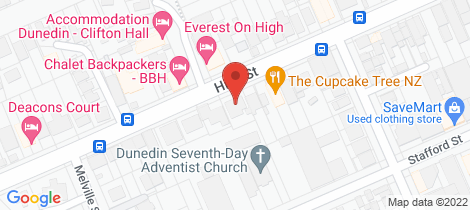 Location map for 281 High Street Dunedin Central