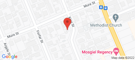 Location map for 9A Mure Street Mosgiel