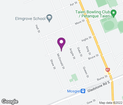 Map of 21 Inglis Street in Mosgiel