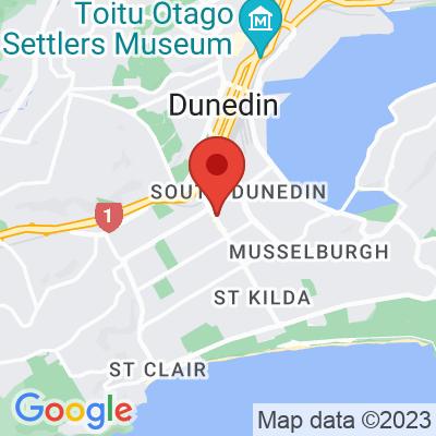 Map showing Cafe Aroma (Dunedin)