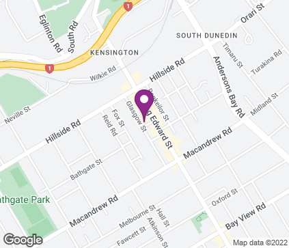 Map of 191 King Edward Street in Dunedin
