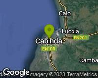 Cabinda - Mapa da área