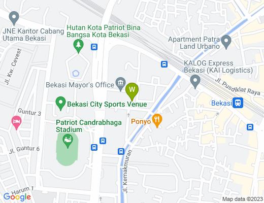 Google map of Kota Bekasi