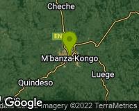 M`Banza Congo - Mapa da área