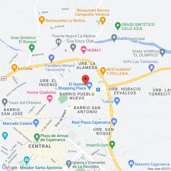 Centro Comercial El Quinde Av Hoyos Rubios Hoyos S/N, Cajamarca.