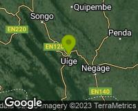 Uíge - Mapa da área