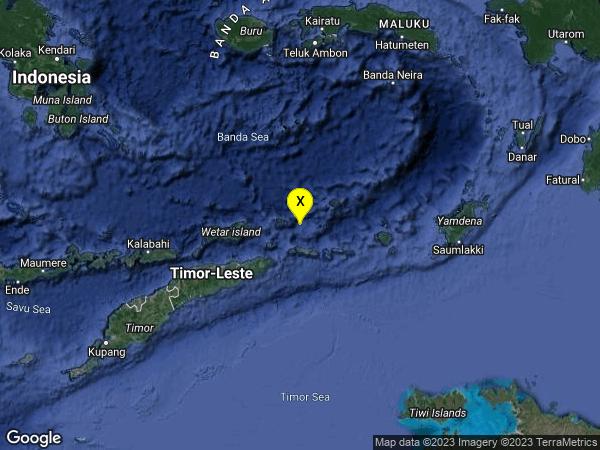 earthquake 271km ENE of Dili, East Timor