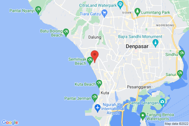 Bali Pilates Studio Map
