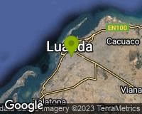 Luanda - Mapa da área