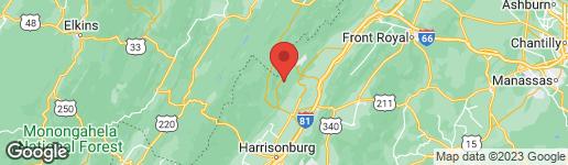 Map of 0 SUPINLICK RIDGE ROAD MOUNT JACKSON, VA 22842