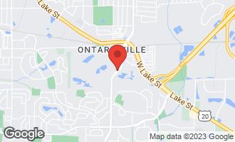 Map of 0001 County Farm Road HANOVER PARK, IL 60133