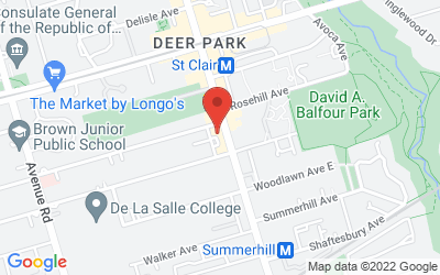 Map of 1 Balmoral Ave, Toronto, ON M4V 3B9