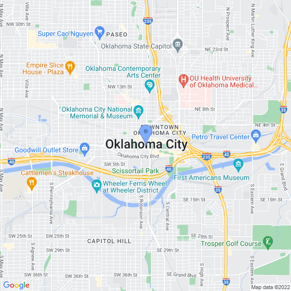 Wizard World: Oklahoma City Map