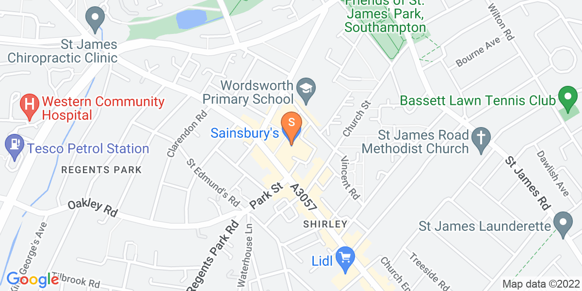 Google Map of 1 Redcar Street Southampton SO15 5LL