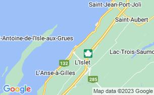 Map of Camping Municipal Du Rocher Panet