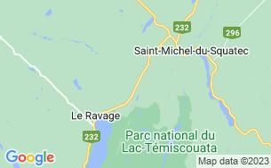 Map of Camping Chalets De Squatec