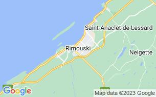 Map of Camping Marina De Rimouski