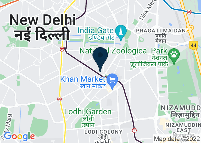 Map of 1, Man Singh Road, New Delhi, 110 011, India