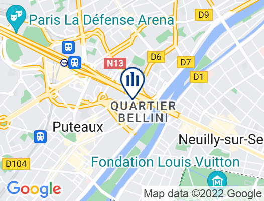 Google Map of 1 Cours Michelet 92800 Puteaux, La Défense