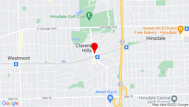 Google Map of 1 N Prospect Avenue, Clarendon Hills, IL 60514