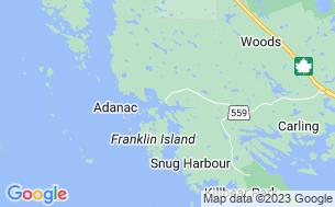 Map of Dillon Cove Marina & Resort